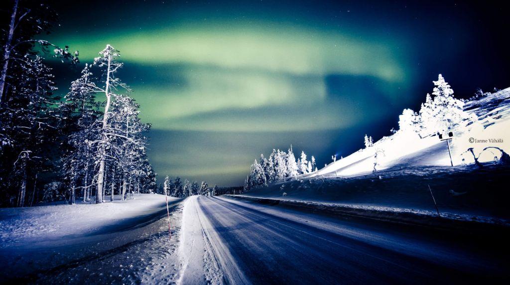 Nice View of Lapland Aurora Borealis